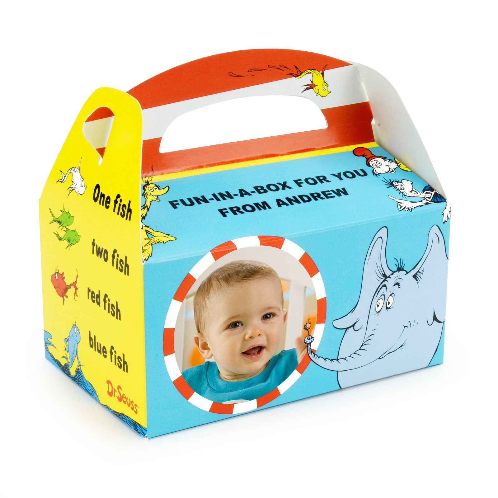 Personalized 1st Birthday Favor Boxes : Dr seuss st birthday personalized empty favor boxes