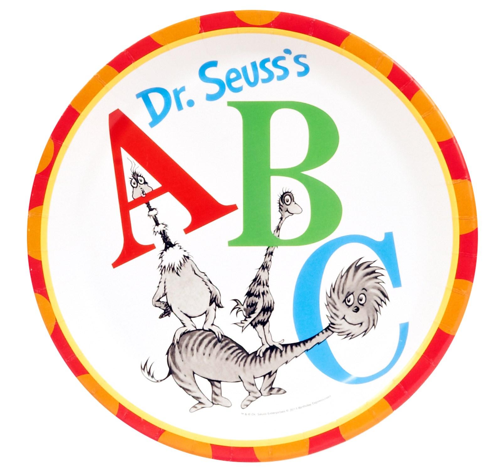 Dr Seuss ABC Dinner Plates BirthdayExpresscom