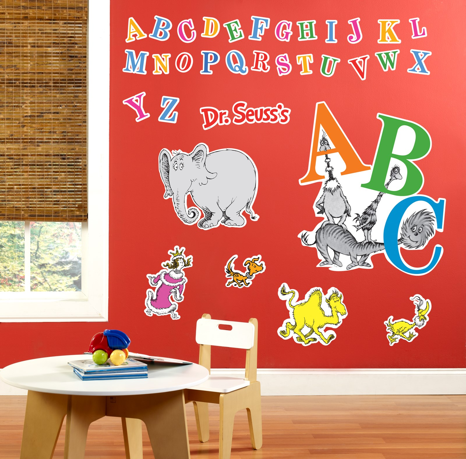 Dr seuss abc giant wall decals for Dr seuss wall mural