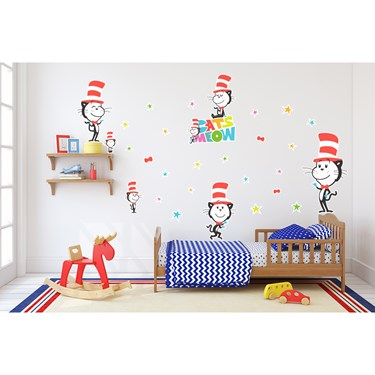 Dr. Seuss Cat's Meow Cat in the Hat Giant Wall Decal