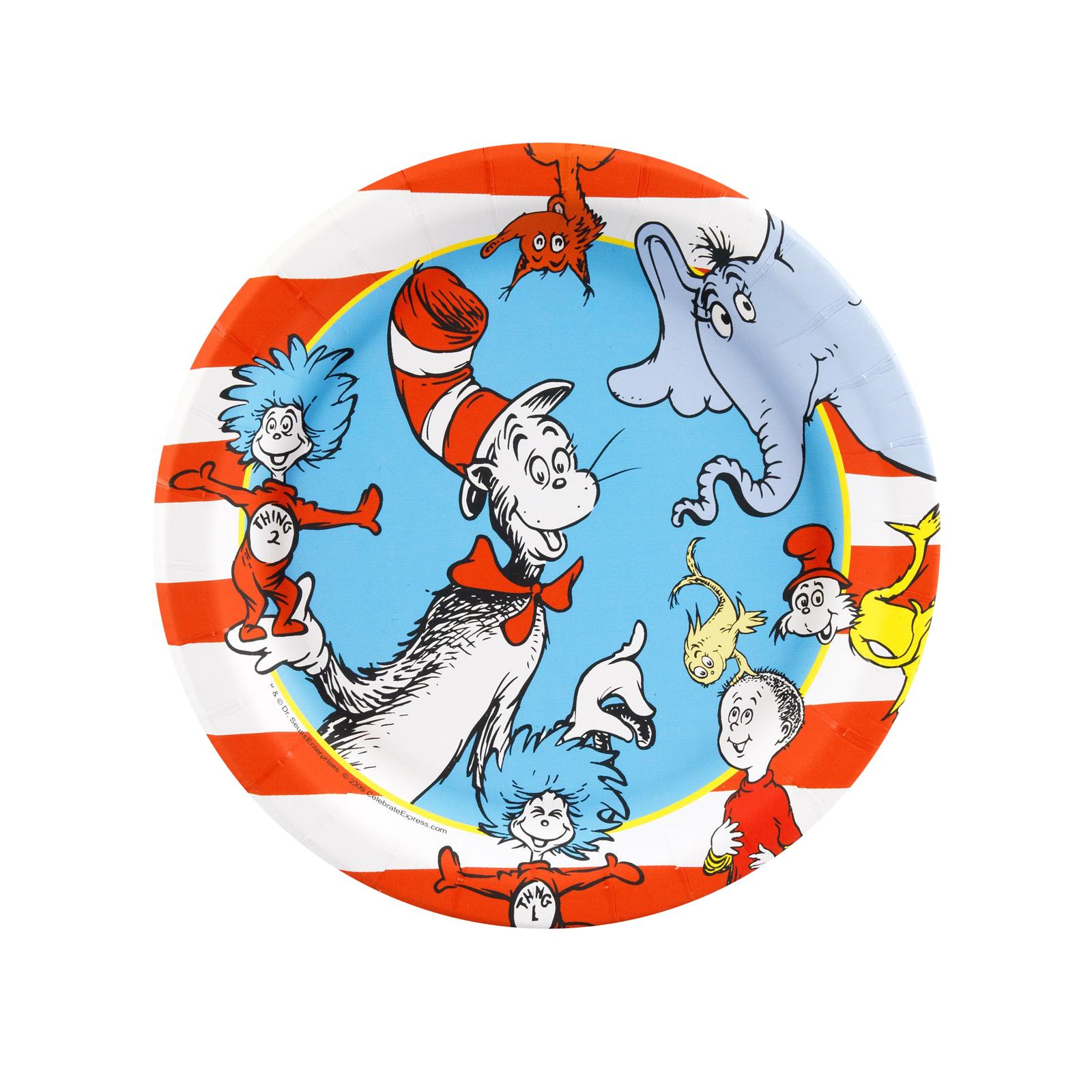 Dr. Seuss Dessert Plates | BirthdayExpress.com