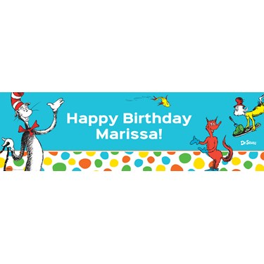 Dr. Seuss Favorites Personalized Text Banner