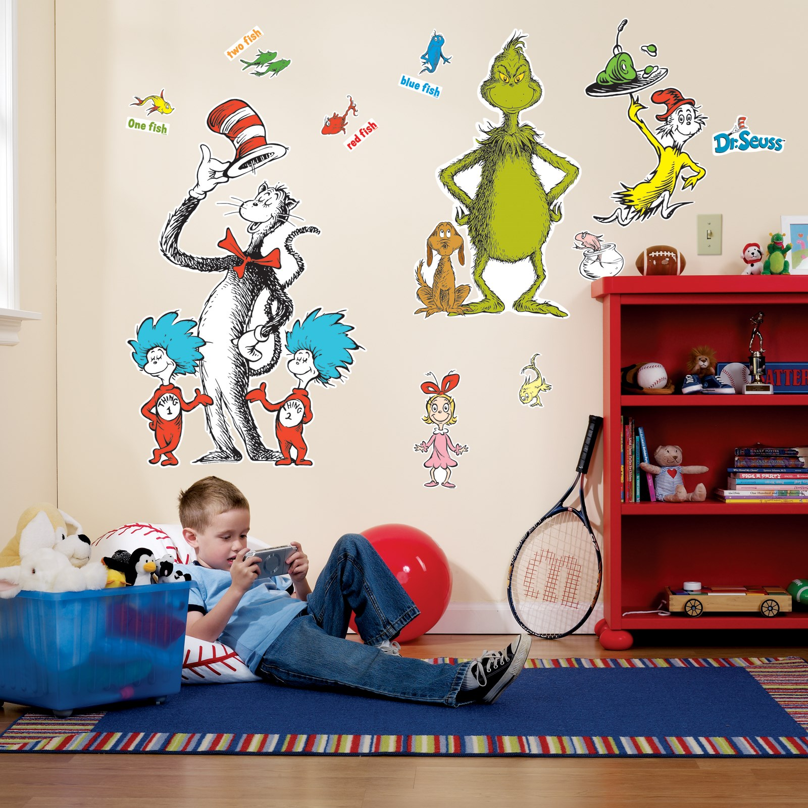 Dr seuss giant wall decals for Dr seuss wall mural