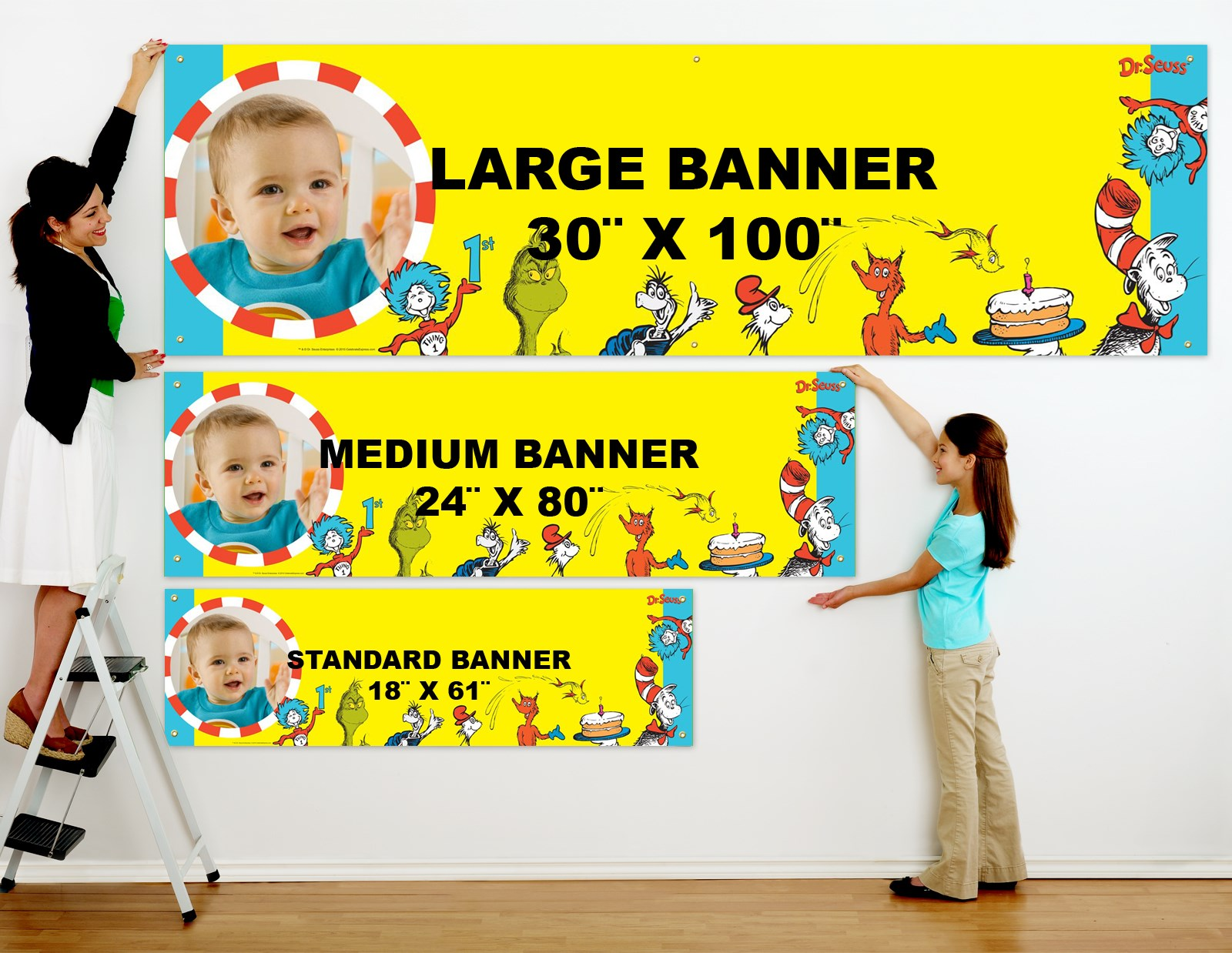 dr seuss personalized photo vinyl banner birthdayexpress com alt image 1 dr seuss personalized photo vinyl banner