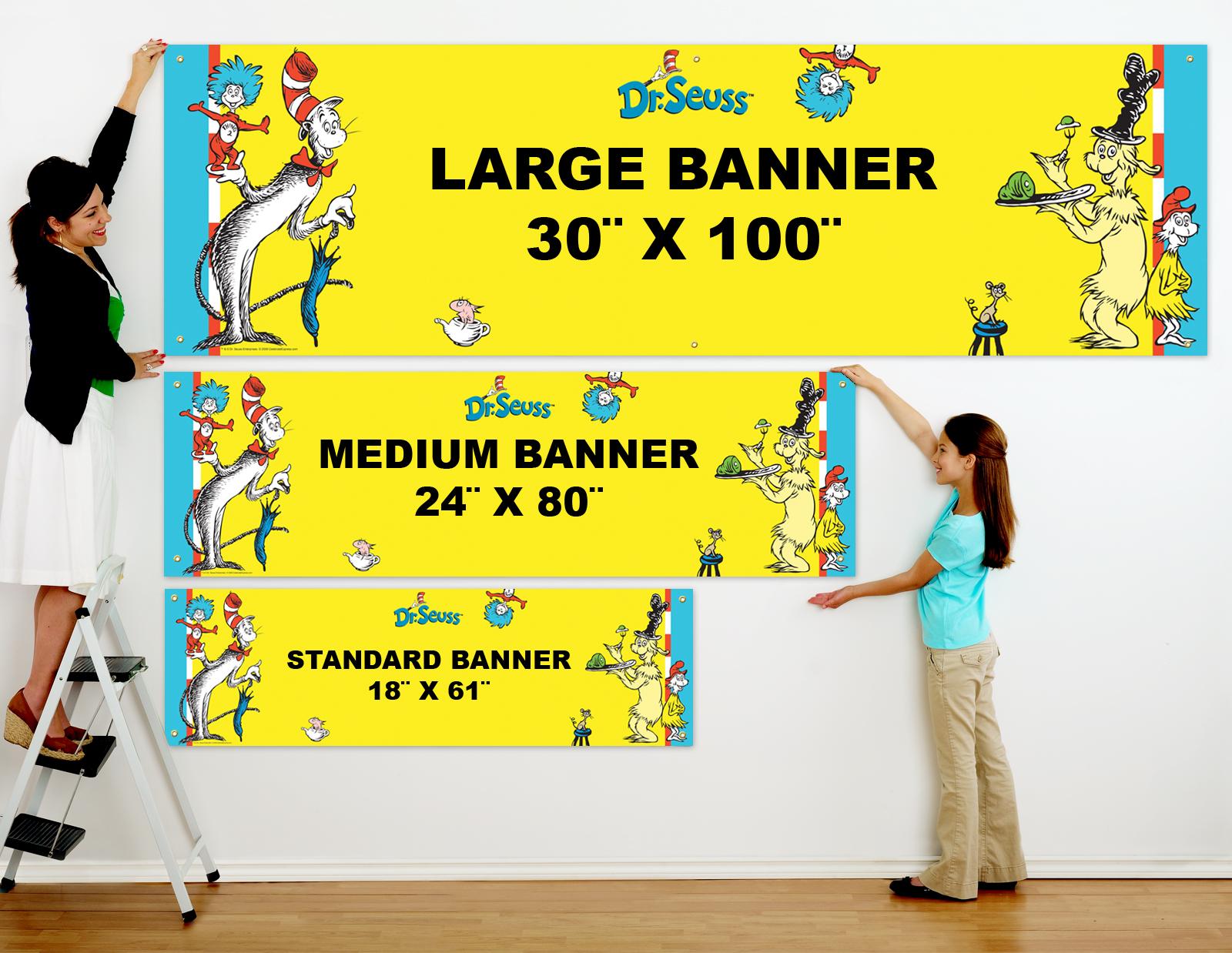 Dr. Seuss Personalized Vinyl Banner | BirthdayExpress.com