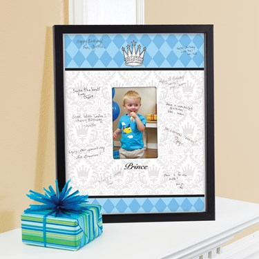 Elegant Prince Damask Birthday Signature Matte