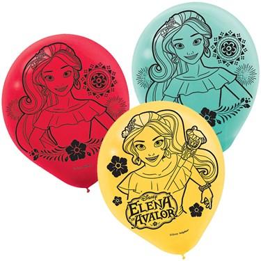 """Elena of Avalor 12"""" Latex Balloons (6)"""