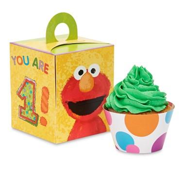 Elmo's 1st Birthday Cupcake Wrapper & Box Kit