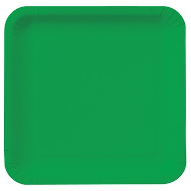 Emerald Green Square Dinner Plates