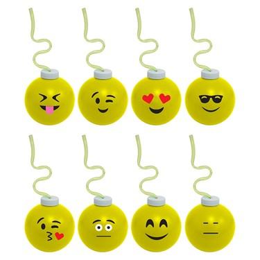 Emoji 16oz Krazy Koolers With Krazy Stra