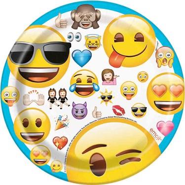 """Emoji 7"""" Cake Plates (8)"""