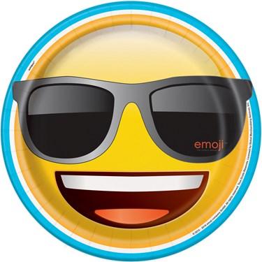 "Emoji 9"" Luncheon Plate (8)"