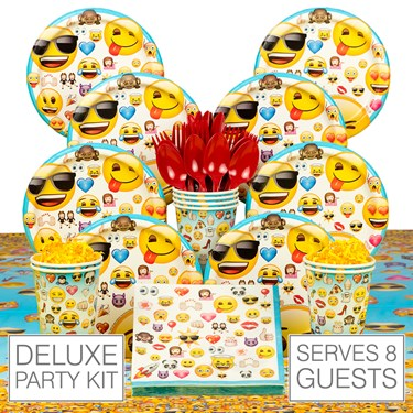 Emoji Birthday Party 8  Guest Party Pack