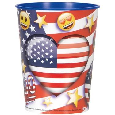 Emoji Patriotic 16oz Plastic Favor Cup