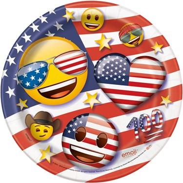 "Emoji Patriotic 7"" Cake Plates (8)"