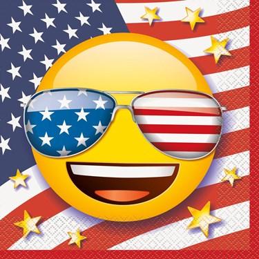 Emoji Patriotic Luncheon Napkins (16)