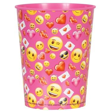 Emoji Pink 16oz Plastic Favor Cup (1)