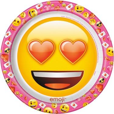 """Emoji Pink 9"""" Luncheon Plates (8)"""