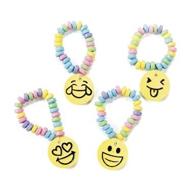 Emoticon Printed Candy Bracelets(12)