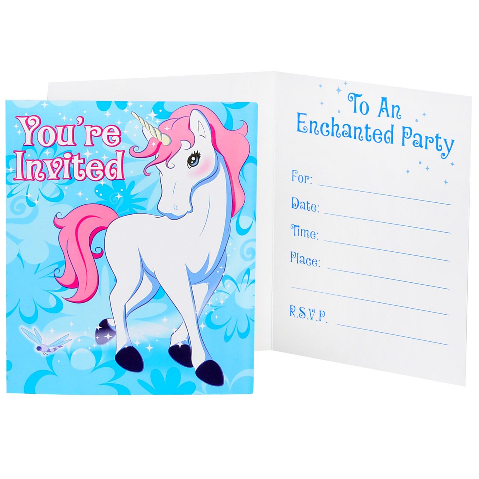 Enchanted Unicorn Invitations | BirthdayExpress.com