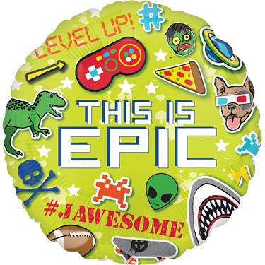 "EPIC PARTY - THIS IS EPIC 18"" FOIL BALLOON - PKG"