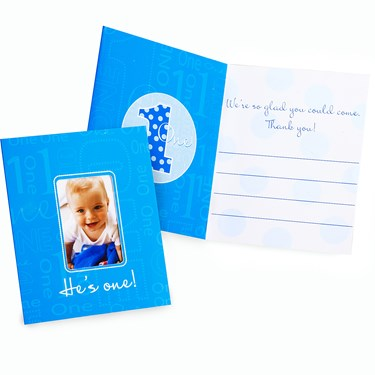 Everything One Boy Photo Thank-You Notes