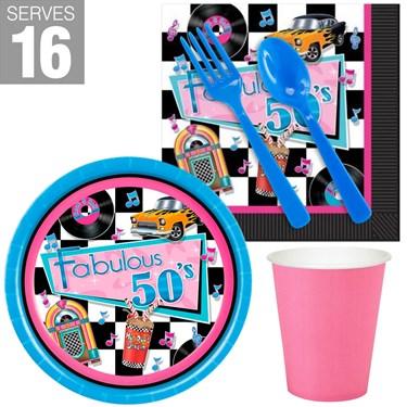 Fabulous 50's Snack Pack Kit For 16