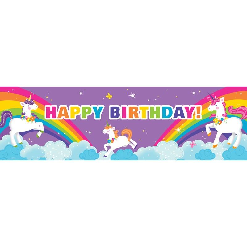 Fairytale Unicorn Party Birthday Banner Birthdayexpress Com