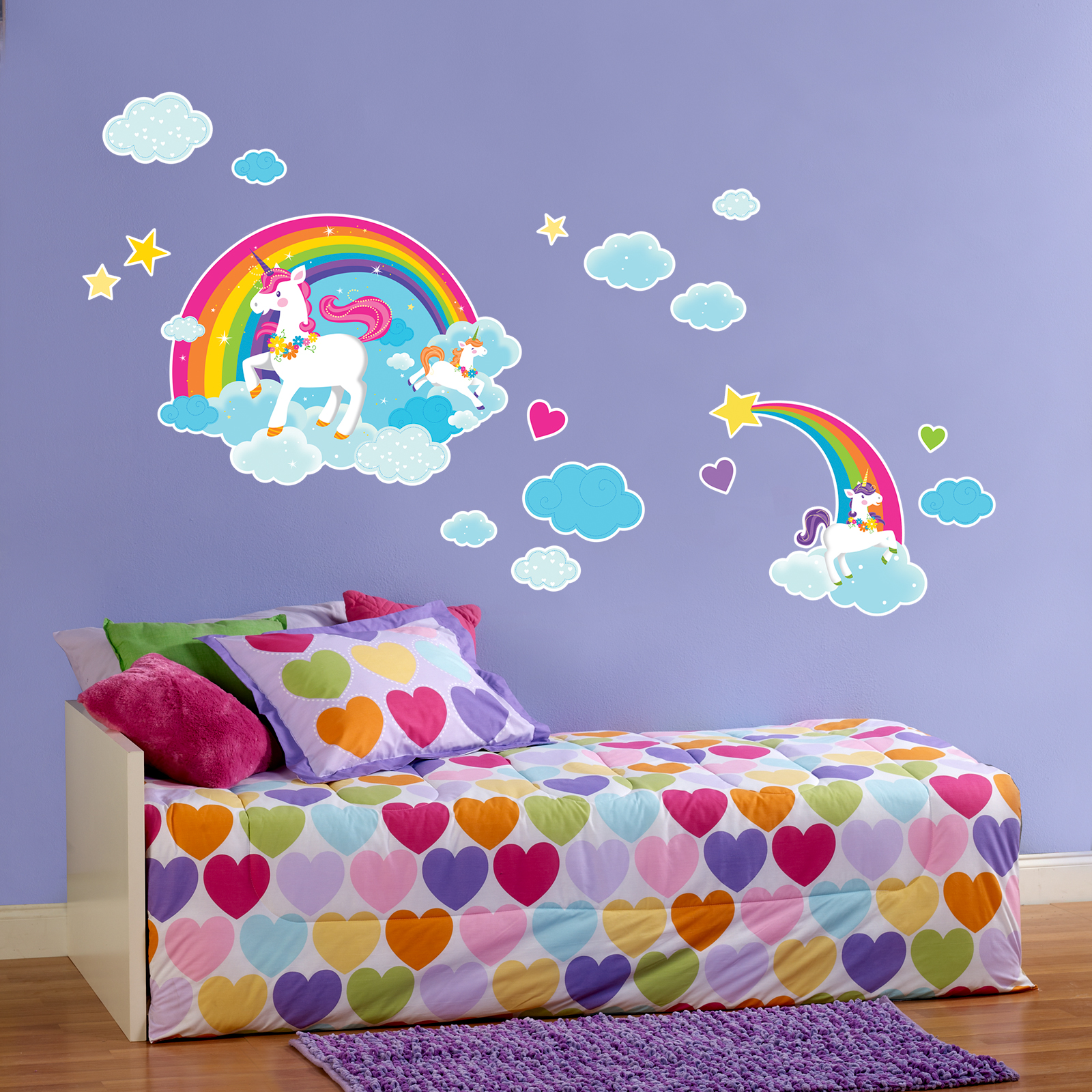 Default Image   Fairytale Unicorn Party Giant Wall Decal ...