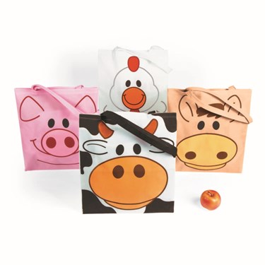Farm Animal Totes (12/Large)