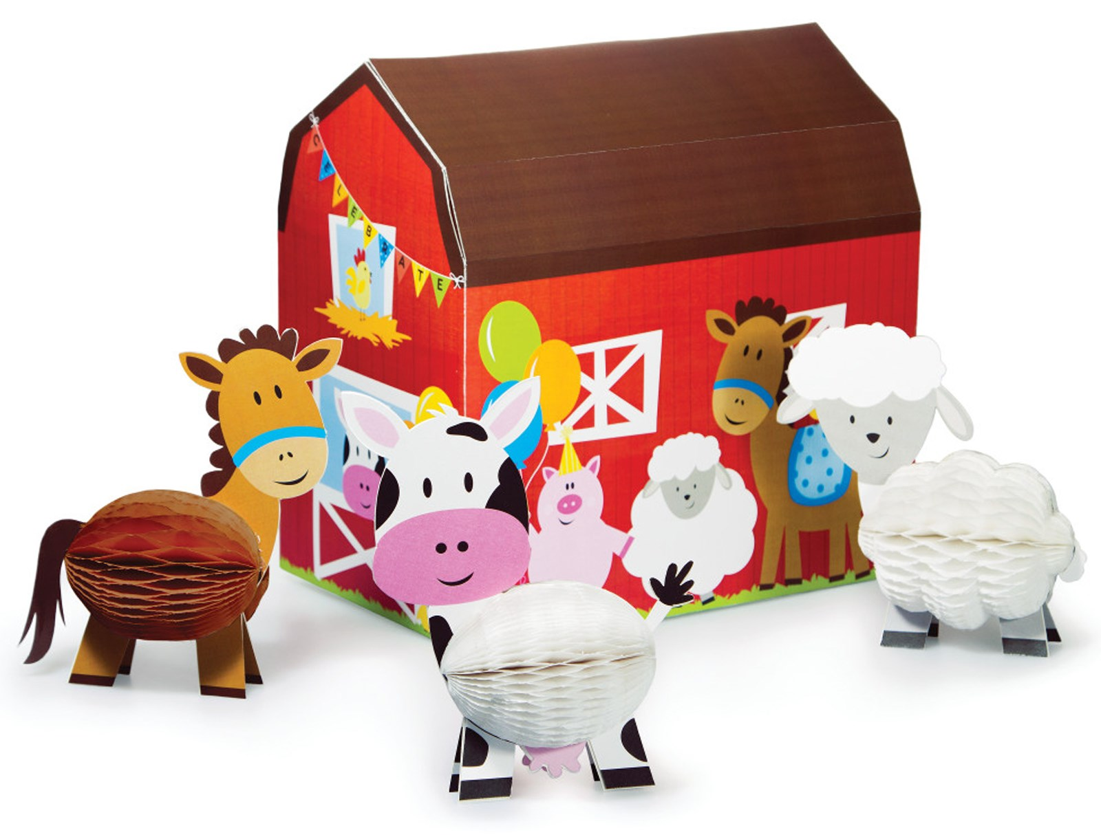 Farm house table decorating kit birthdayexpress