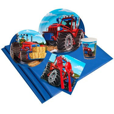 Farm Tractor 16 Guest Party Pack