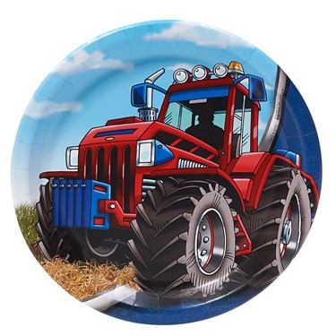 Farm Tractor Dinner Plates
