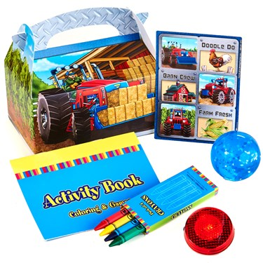 Farm Tractor Filled Favor Boxes (Set of 4)