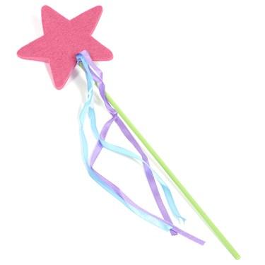 Felt Pink Star Wand