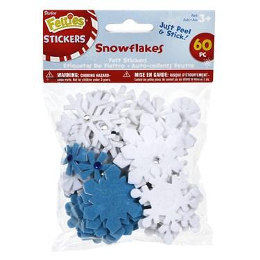 Felt Snowflake Stickers (60)