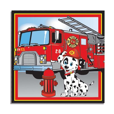 Firefighter Luncheon Napkins (16)