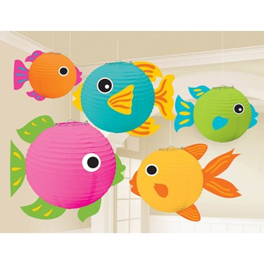 Fish Lanterns W/ Add-ons Decorations (5)