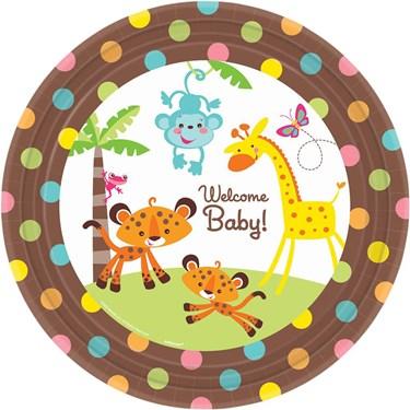 Fisher Price Baby Shower Banquet Dinner Plates (8)