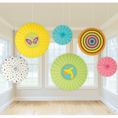 Fisher Price Baby Shower Paper Fan Decorations (6)