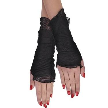 Fishnet Glovelettes Adult Costume