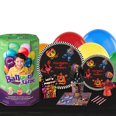 Five Nights at Freddy's 16 Guest Party Pack - Tableware & Helium Tank