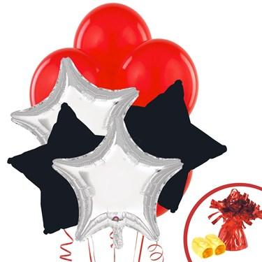 Silver & Black Balloon Bouquet