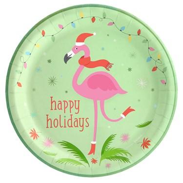 Flamingo Cheer Dinner Plate (8)