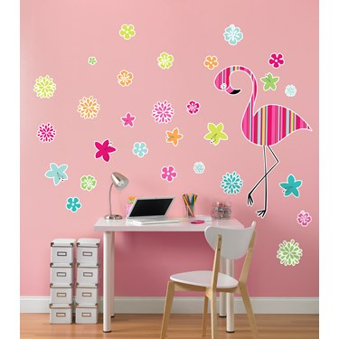Flamingo Giant Wall Decal