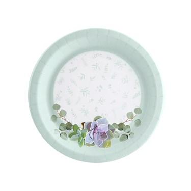 Floral Succulents Dessert Plate (8)