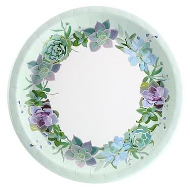Floral Succulents Dinner Plate (8)