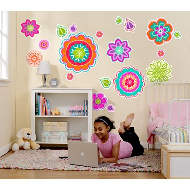 Pretty Flowers Giant Wall Decal