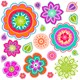 Alt. Image (1) - Pretty Flowers Giant Wall Decal
