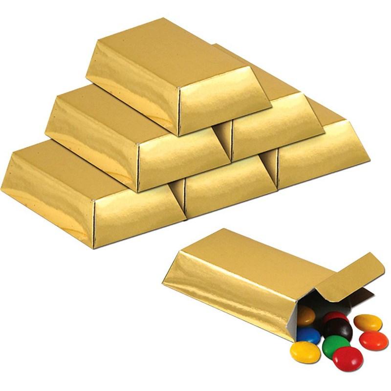 Large Gold Favor Boxes : Foil gold bar favor boxes birthdayexpress